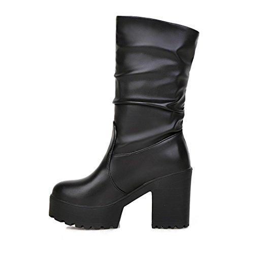 ZQ@QXregalo di Natale Europei e Americani, scarpe da donna black