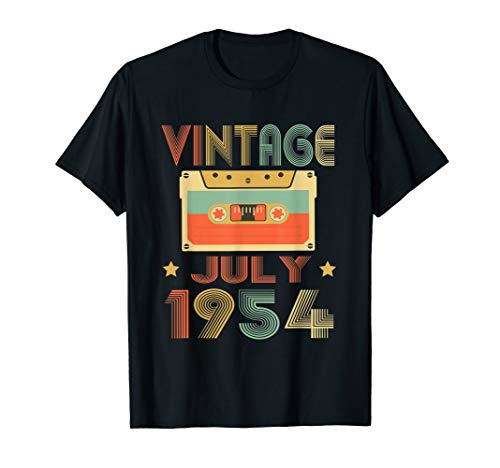 Vintage July 1954 T-Shirt 65th Birthday gift 65 years old