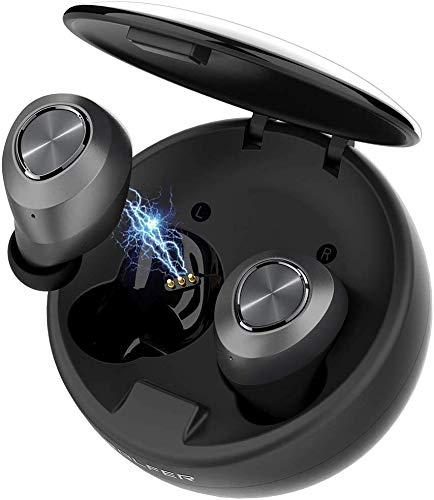 BALFER Auricolari Bluetooth Wireless con Chip Qualcomm 5.0/ IPX5 Cuffie In-Ear Nascoste, Microfono Incorporato, Stereo Hi-Fi, Lunga Durata, per iPhone Samsung Huaw