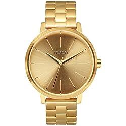 Nixon A099502-00 - Reloj analógico de cuarzo para mujer con correa de acero inoxidable, color dorado