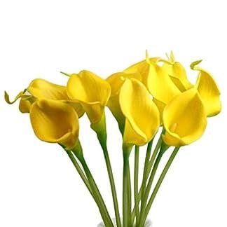 Sanysis flores artificiales individuales, 1 X 10 cabezas lirio de flores de seda