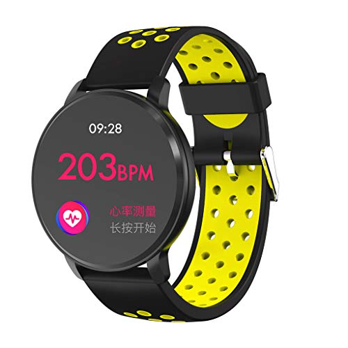 Yallylunn Smart Watch Android Ios Sports Fitness Calorie Wristband Wear Schlaf Tracker Uhr Armband Wasserdichtes OLED Touchpad Schlafmonitor SchrittzäHler