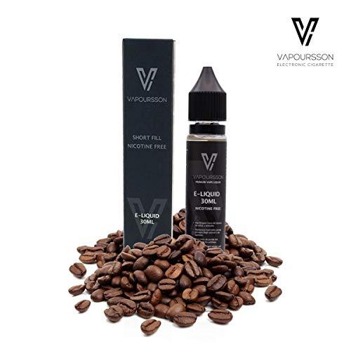 Vapoursson 30ml Kaffee 0mg E-Flüssigkeit - Shortfill Nikotinfreie Flaschen - 50/50 PG/VG - Starke echte Aromen - Für E-Shisha und E-Zigaretten