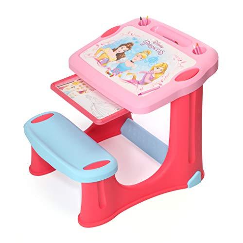 Smoby Disney Activity Tisch mit Stuhl und Zubehör, Plastik, Rose, Princess (Disney Princess Rose)
