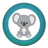 """Kindermöbelgriff""""Koala"""" petrol Holz Buche Kinder Kinderzimmer 1 Stück wilde Tiere Zootiere Dschungeltiere Traum Kind"""
