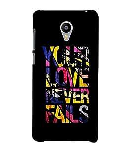 FUSON rough texture lines love quotes love never fails Designer Back Case Cover for Meizu M2 Note :: Meizu Note 2