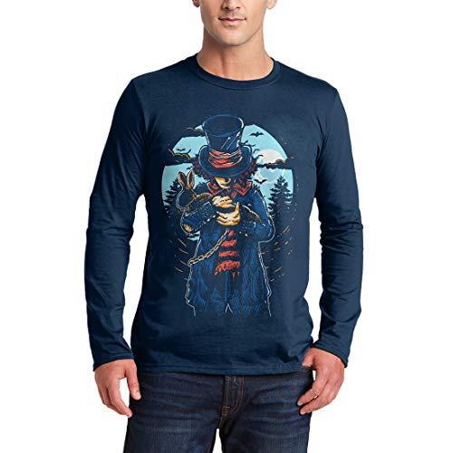 garm T-Shirt Mad Hatter Horror Night Moon Dark Rabbit Hat Death Evil Skull Bats Hell Saw Killer Vintage Classic(XX-Large,Navy) ()
