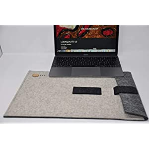 Mac Book Pro 15 ✔ Hülle aus regionalem Filz aus Österreich ✔ Handgemachte 15″ Zoll Tasche für Mac Book Pro ✔ Colours and Dreams