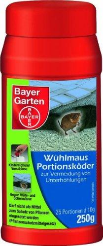 Bayer 79517513 Garten Wühlmaus-Portionsköder, 25x 10 g