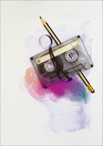 Póster 30 x 40 cm: Music Tape with Pencil and Watercolour de Sybille Sterk - impresión artística, Nuevo póster artístico
