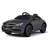 RaceWinner Mercedes C63 AMG Lisenced 12v Ride on Kids Electric Car With Remote Black