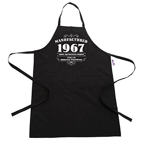 men s 50th birthday gift apron manufactured 1967 aprons 50th