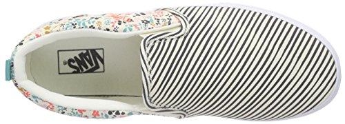 Vans Asher - Scarpe da Ginnastica Basse Bambina, Multicolore (flower/stripe/classic White), 33 EU Multicolore (flower/stripe/classic White)