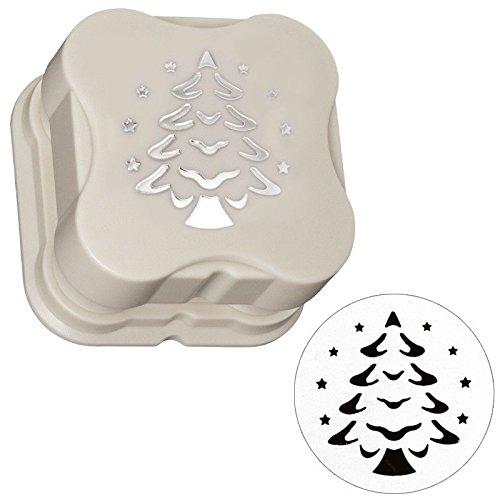 Magnet-Stanzer, Tannenbaum, Motivgröße: Ø 3,8 cm, mit Pop-Up-Effekt | Motiv-Locher für Papier | Basteln für Weihnachten | Grußkarten & Geschenkanhänger mit Weihnachtsbaum