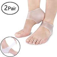 Heel Sleeves Silikon Fuß Ärmel Ferse, Konesky Kissen Protector Sleeves Fuß Hautpflege Reduzieren Druck auf Heel... preisvergleich bei billige-tabletten.eu