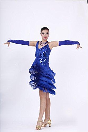 FaithYoo Damen Schößchen Kleid Blau - Hellblau