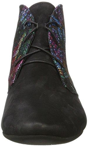 Think Guad, Stivali Desert Boots Donna Nero (Sz/multi 03)