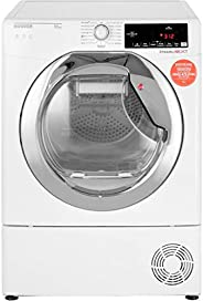 Hoover 10Kg Dryer, Condenser Type, White, Chrome Door, DXC10TCE-80, 1 Year Warranty