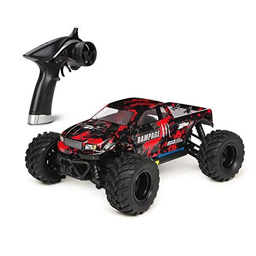 HBX 1:18 ferngesteuertes Auto, 36km/h, 4WD Elektrofahrzeug, 2,4 GHz Funkfernsteuerung, ferngesteuerte Geländewagen für Erwachsene und Kinder, wasserdichte geländegängige ferngesteuertes LKW (Rot)