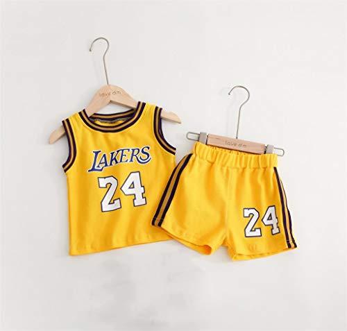 CHUANG Sport Kinder Jugend Trikotset - Lakers Kobe # 24 / Canadian Raptors Leonard # 2 / Bulls Jordan # 23 / Basketballfans Für Jungen Und Mädchen