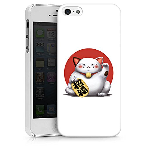 Apple iPhone X Silikon Hülle Case Schutzhülle Kawaii Katze Japan Hard Case weiß