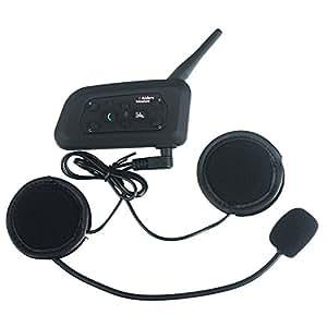 IDEAPRO BT Interfono per Casco Moto V6 Wireless Bluetooth Impermeabile 1200M per lo Sport Attività all'aperto per Intercomunicazione tra 6 Persone