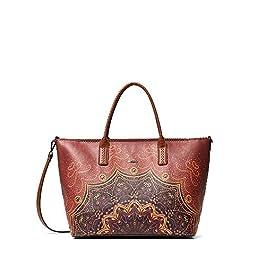 Desigual TEKILA SUNRISE HOLBOX Tote bag/Borsa shopping femmes Marrone Tote bag/Borsa shopping