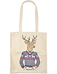 Tote Bag coton happy animals cerf