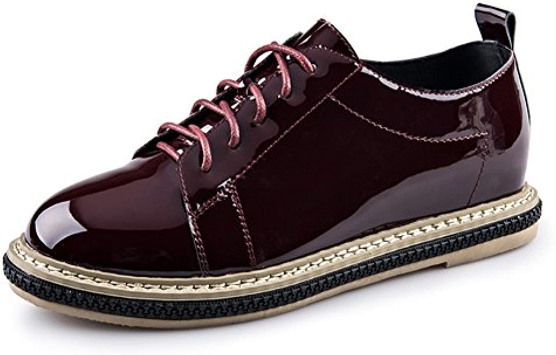 Primavera-otoño Zapatos Redondos/Zapatos De La Torta De Pino De La Profundo-boca/Damas Casuales Zapatos