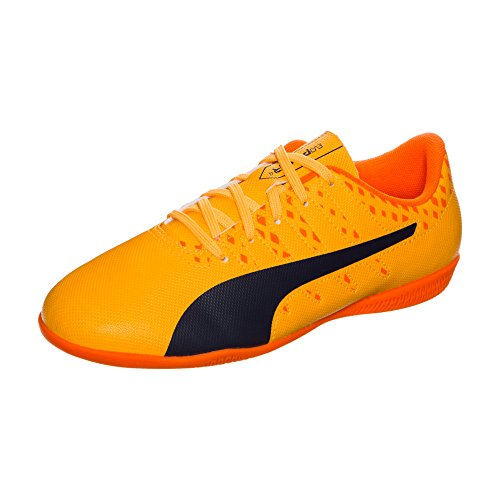 Puma Evopower Vigor 4 It Jr, Scarpe da Calcio Unisex – Bambini arancione / blu