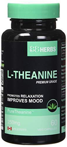 L- Theanin - Pharmazeutische Qualität - Vegetarische Kapseln - 250 mg (pro Kapsel ) - 60 Kapseln -