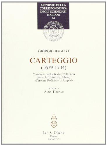 Carteggio (1679-1704)