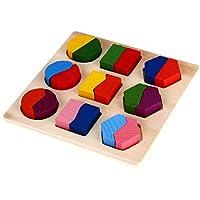 SODIAL(R) Juguetes de madera Juguete educativo de rompecabezas para el nino del bebe - Peluches y Puzzles precios baratos