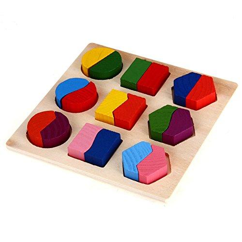Dcolor Puzzle Jouet Jeux Casse-tete Educatif en Bois pour Bebe Enfa