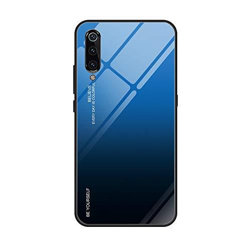 "Funda Xiaomi Mi 9 360 Grados Pantalla Completa Vidrio Templado Ultra Slim Ligero Original PC Duro Cover Anti-rasguños Protection Cámara para Mi 9 Carcasa (Azul + Negro, Mi 9 6.39"")"