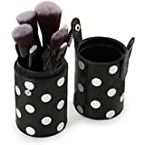 Zureni Makeup Brushes 12 Piece Set Professional Makeup Brush Set With Polka Dot Brush Holder Case Contains Concealer...