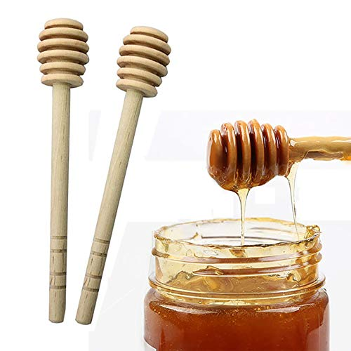 BESTEU Holz Honig Löffel Stir Bar für Honig Jar Supplies Langen Griff Mixing Stick Marmelade Kaffee Stir Bar (Bar Sticks Stir)