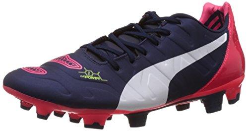 Puma Evopower 2 2 Fg, Chaussures de football homme Bleu - Blau (peacoat-white-bright plasma 01)
