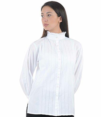 Cotton Lane coton victorienne / edwardian vintage blouse. Tailles Franais 36-60 Blanc