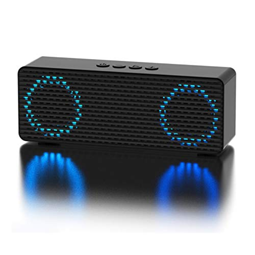 Bluetooth Lautsprecher Lautsprecher Wasserdichter tragbarer Lautsprecher mit Freisprechfunktion Sprachassistent mit Dual Treiber Bass 22m Reichweite Eingebauten Mikrofon Kabelloser (Color : Black) (Singen-treiber)
