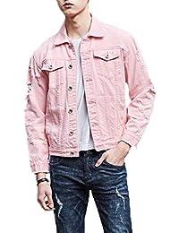 Martinad Chaqueta Mezclilla Los Collar Chic Larga Manga Hombres Prendas Jacket Turn Down Vestir Exteriores Mezclilla