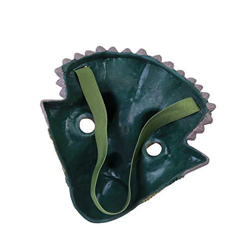 lay Dinosaurier Gesichts Maske, Overhead Latex Kostüm Prop Beängstigend Maskerade Halloween Masken Spielzeug für Junge Mädchen Karneval Silvester (A) ()