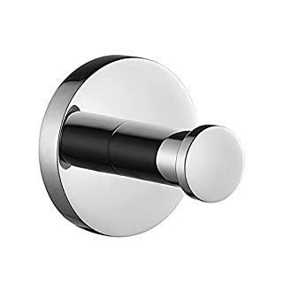 Aothpher 304 Stainless Steel Chrome Finished Towel Hook,Modern Chrome Towel Robe Hook Luxury Circle Base Bathroom Accessory