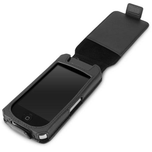 BoxWave iPhone 4Designio étui en cuir-Premium Qualité 100% cuir véritable style portefeuille Flip Coque-iPhone 4étuis et housses (Rabat vertical Coque)