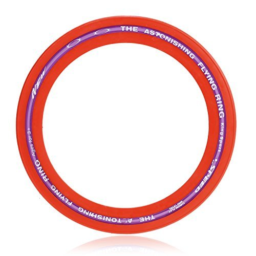 arshiner-real-action-flying-ring-frisbee-sprint-ring-single-unit-red-colorflying-discs-for-both-adul