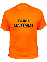 "Tee-shirt chasse ""J'aime quand ma femme me laisse aller chasser"""