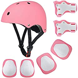Protecciones Casco Infantiles Skate Bicicleta Monopatín, Fstoption rodilleras coderas para bicicleta BMX skateboard Cascos monopatín y otros deportes extremos