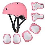 EarthSave Kid's Skateboard Helmet Set, Roller Skating BMX Scooter Cycling Skateboard Helmet, Knee