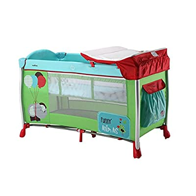 OLMITOS Travel Cot with Changing Funny Elephant