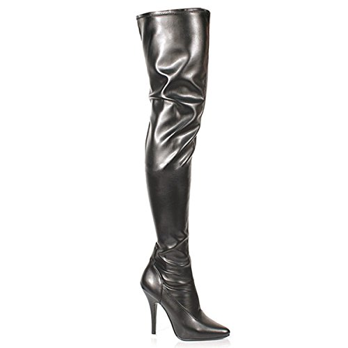 Pleaser Seduce-3000 - Sexy High Heels Stretch Overknee Stiefel 36-48, Größe:EU-37 / US-7 / UK-4